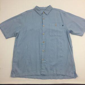 Caribbean Joe Island Supply Co Linen Shirt. Z1